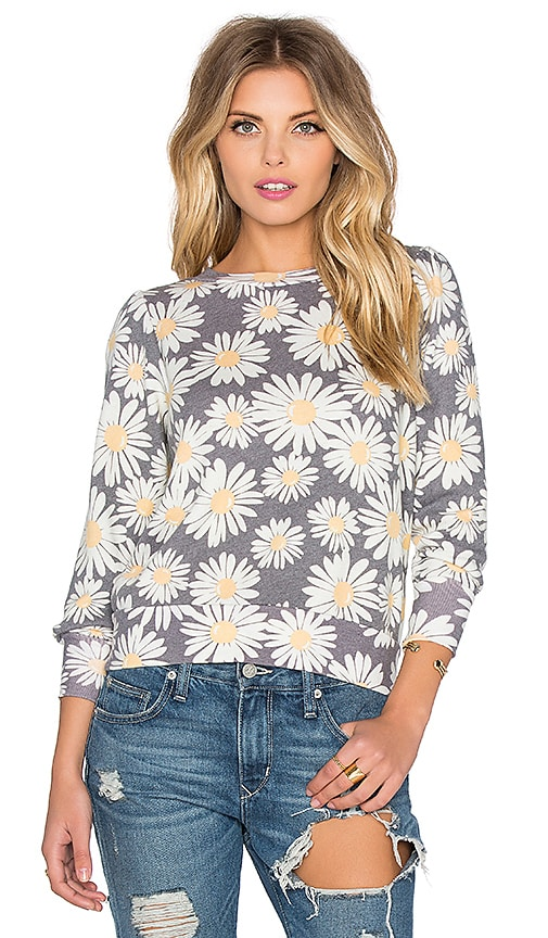 Wildfox Couture Daisy Train Pullover in Multi