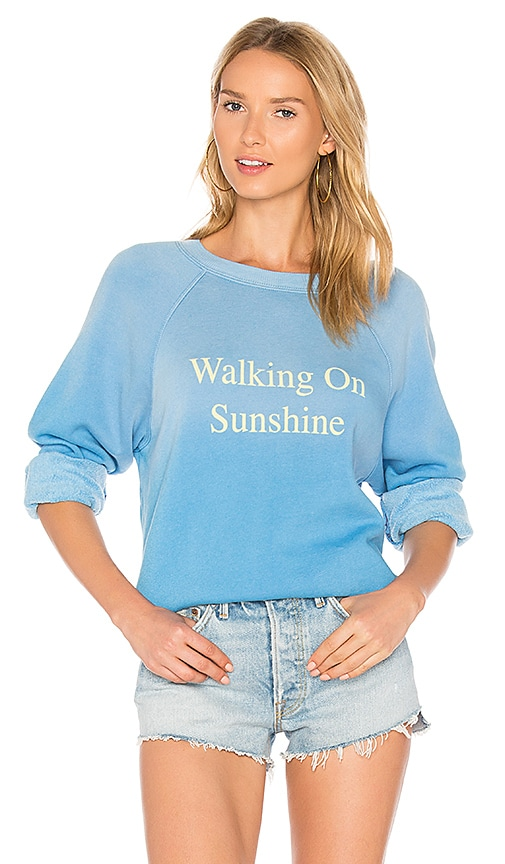 Wildfox Couture Walking On Sunshine Pullover in Blue