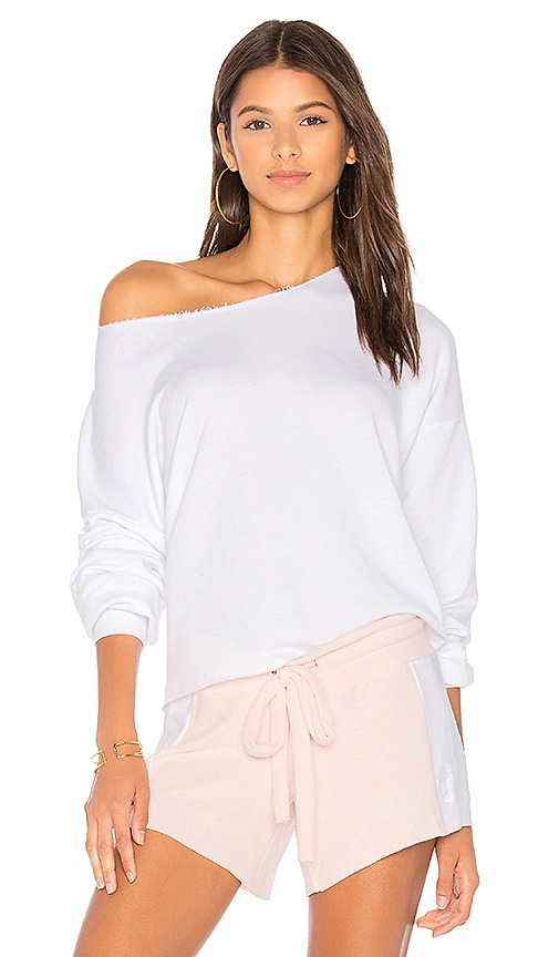 Wildfox Couture Lounge Sweatshirt in White