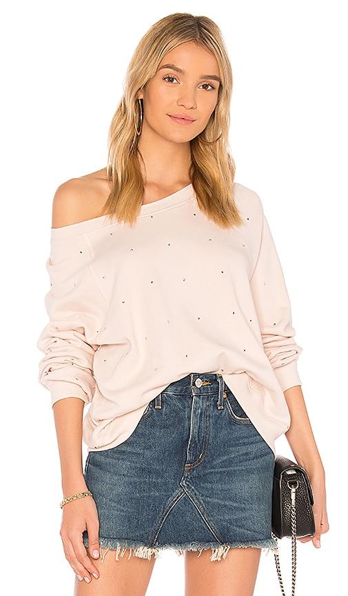 Wildfox Couture Allover Glitz Sweatshirt in Pink