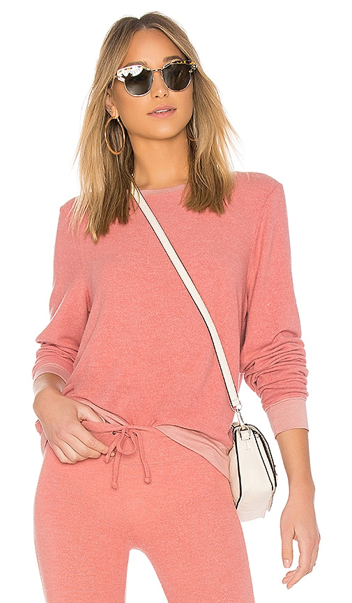 Wildfox Couture Solid Long Sweatshirt in Rose