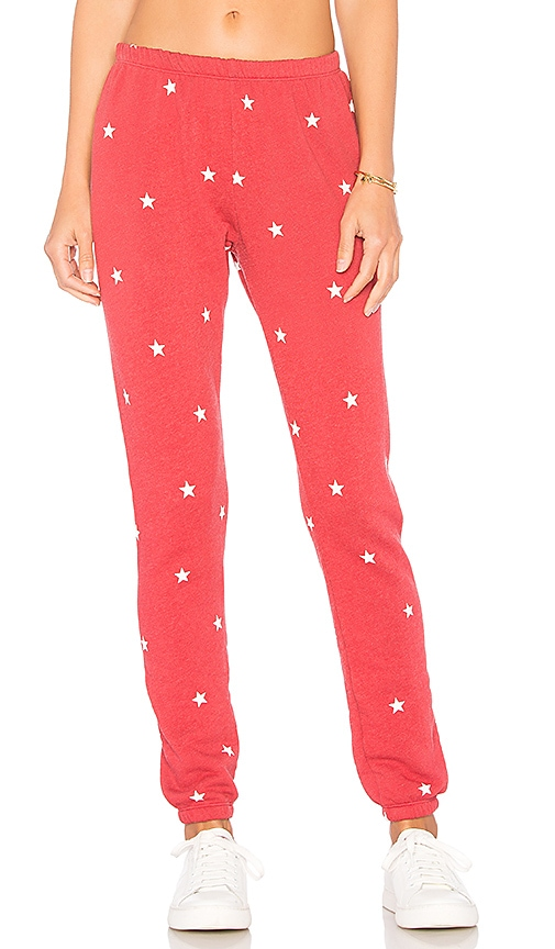 Wildfox Couture Football Star Pants in Red