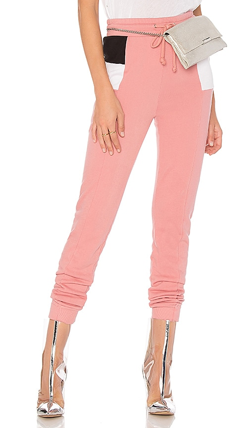 Wildfox Couture Colorblock Sweatpant in Pink