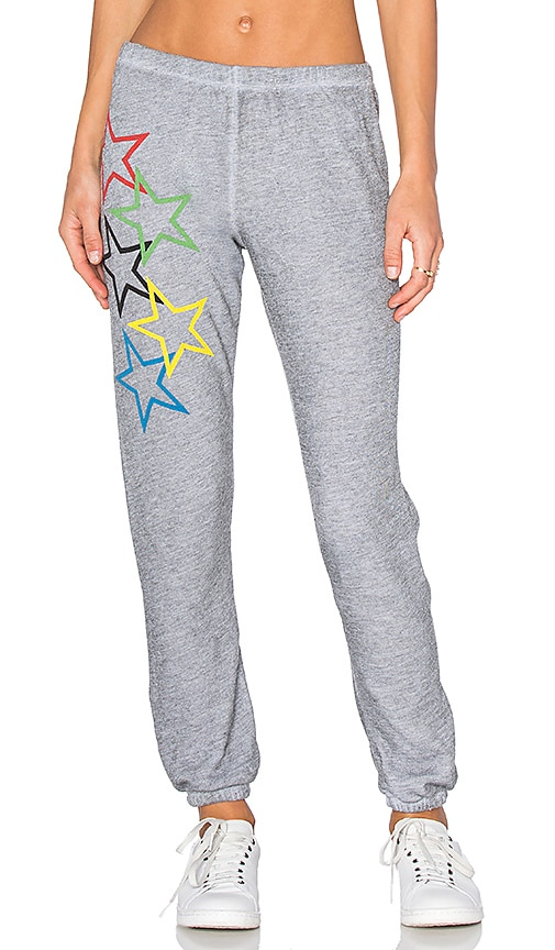 Wildfox Couture Olympic Stars Pants in Grey