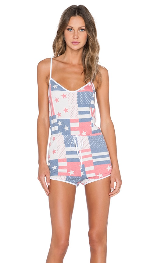 US Flag & Star Spangled Romper