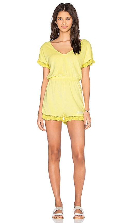 Wildfox Couture Laguna Romper in Yellow