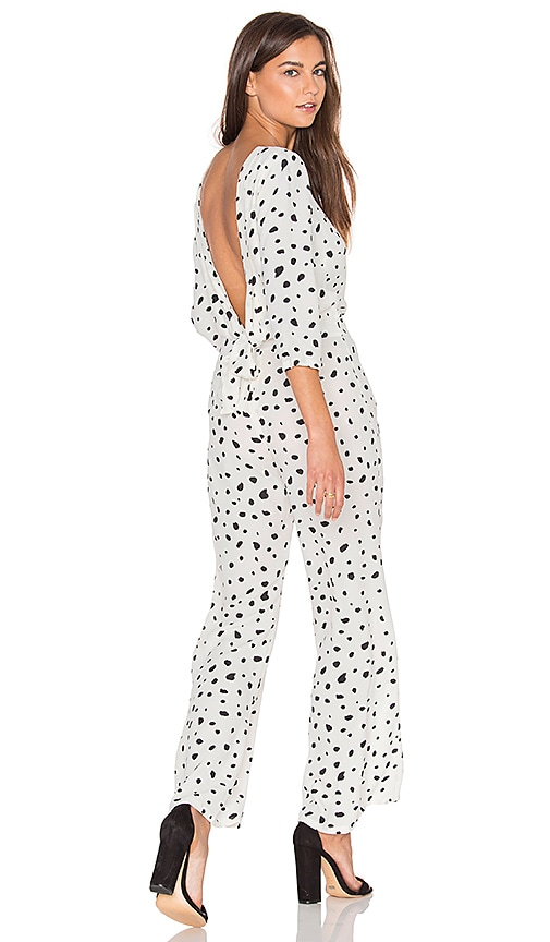 c2de29a6b12c Wildfox Couture Solid Confetti Jumpsuit in Vanilla Latte