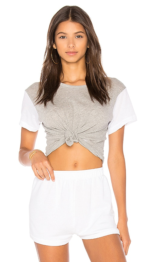 Wildfox Couture Boxy Tee in Gray