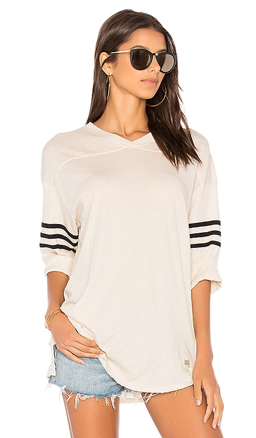 Wildfox Couture Long Sleeve Tee in Cream