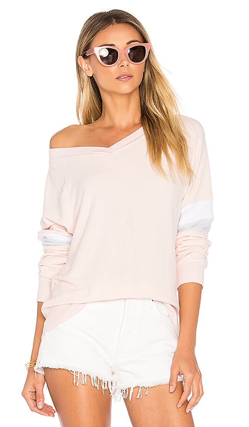 Wildfox Couture Soft Long Sleeve Tee in Pink