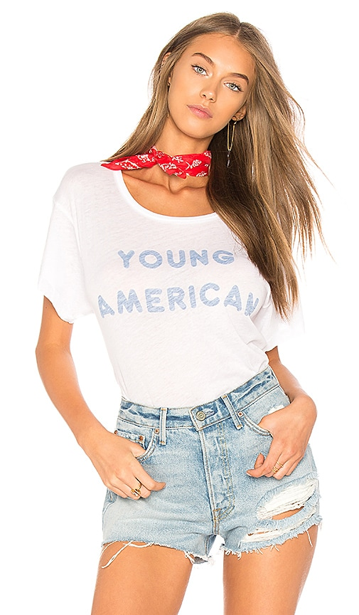 Wildfox Couture Young American Tee in White