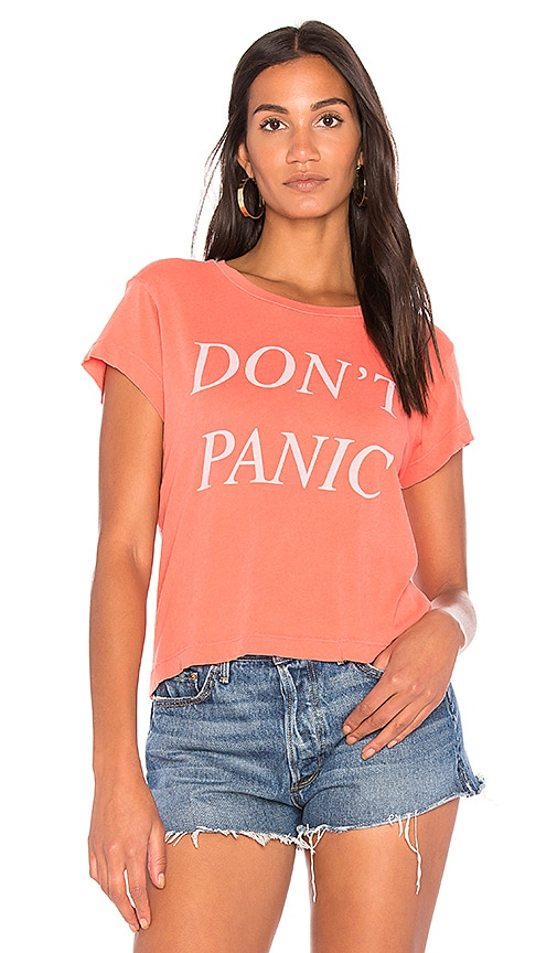 Wildfox Couture Don't Panic Tee in Red