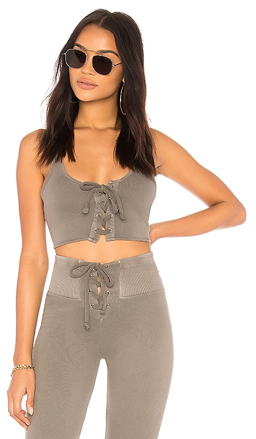 Wildfox Couture Solid Top in Olive