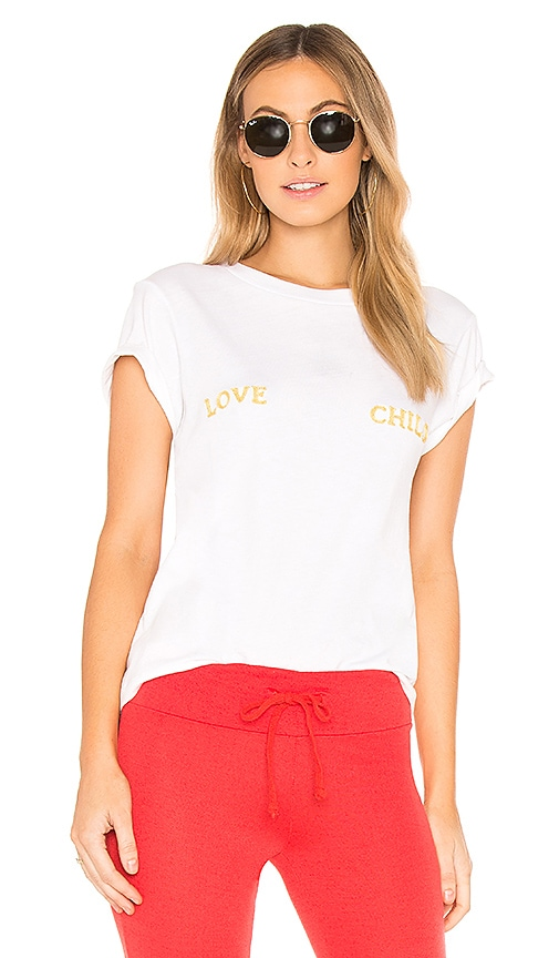 Wildfox Couture Love Child Top in White