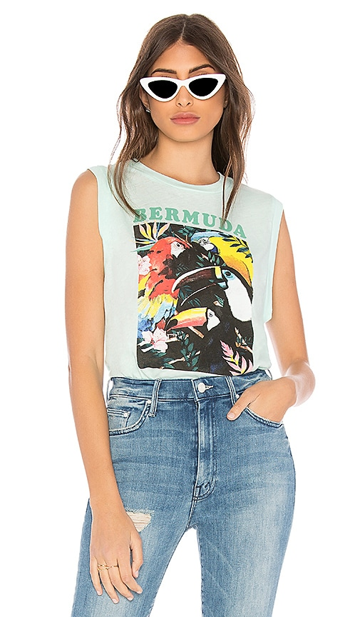 Wildfox Couture Bermuda Vintage Muscle Tank in Mint