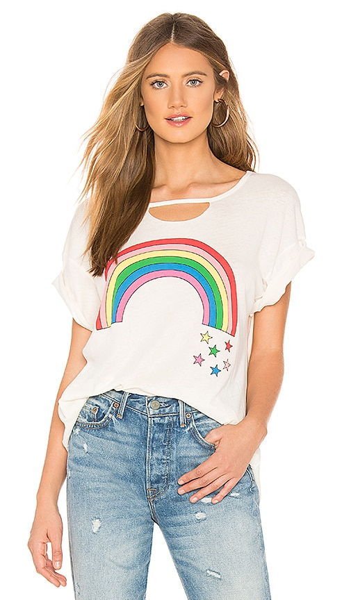 3f57124461 Wildfox Couture Rainbow Stars Rivo Tee in Vintage Lace | REVOLVE