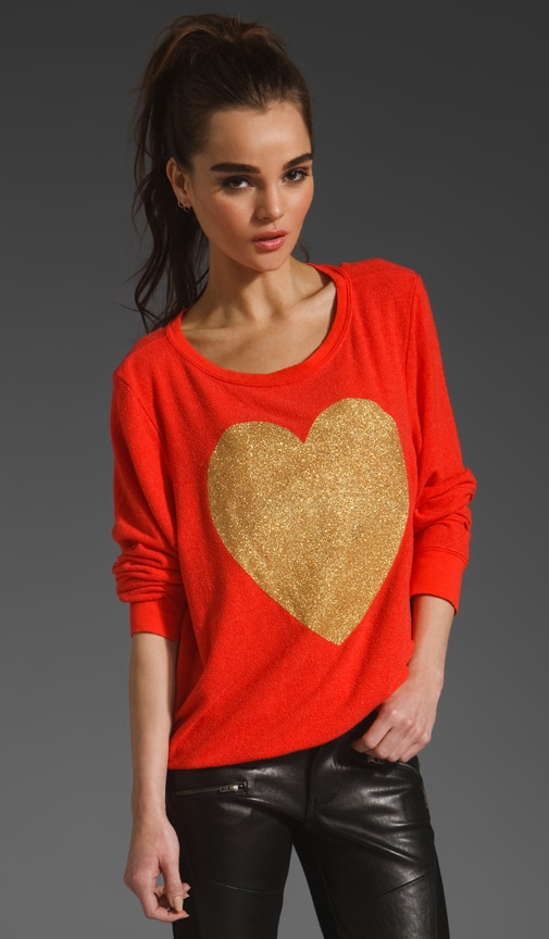 EXCLUSIVE Gold Sparkle Heart