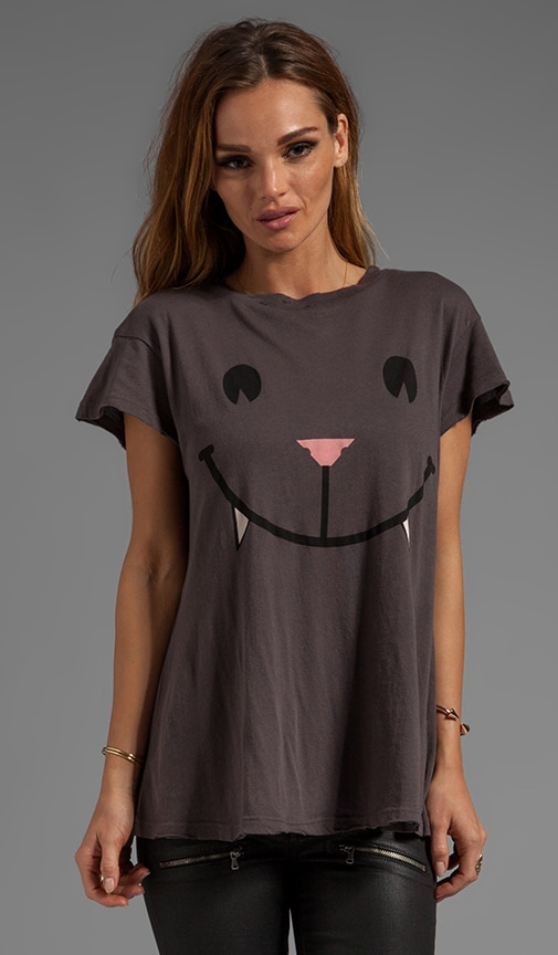 Naughty Cat Face Desert Crew Neck