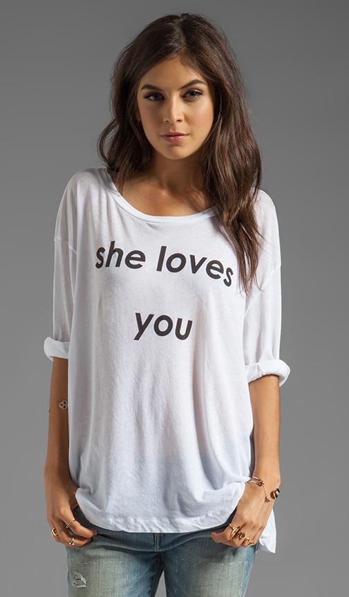 She Loves You Rainy Beach House Tee