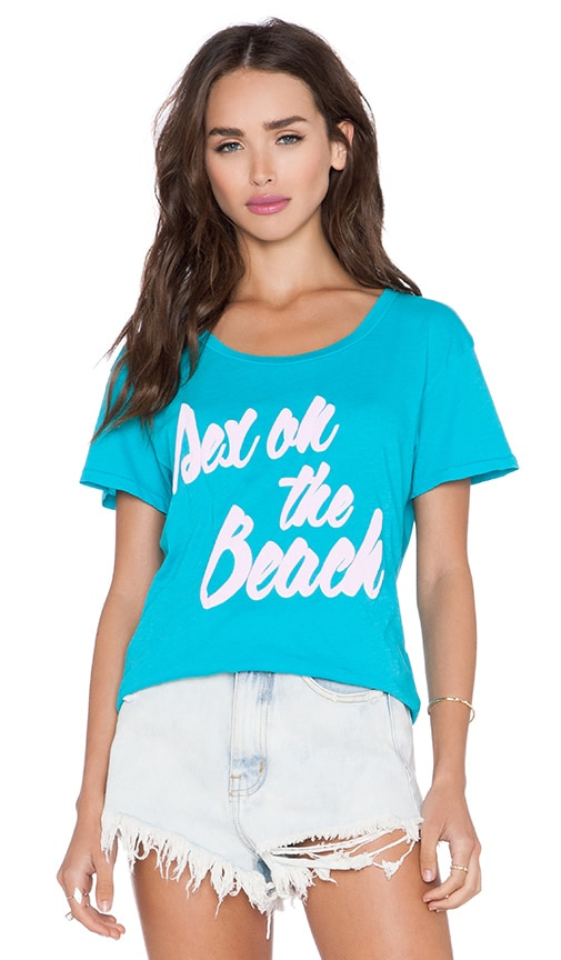 Wildfox Couture Tall Order Tee in Summer Sea
