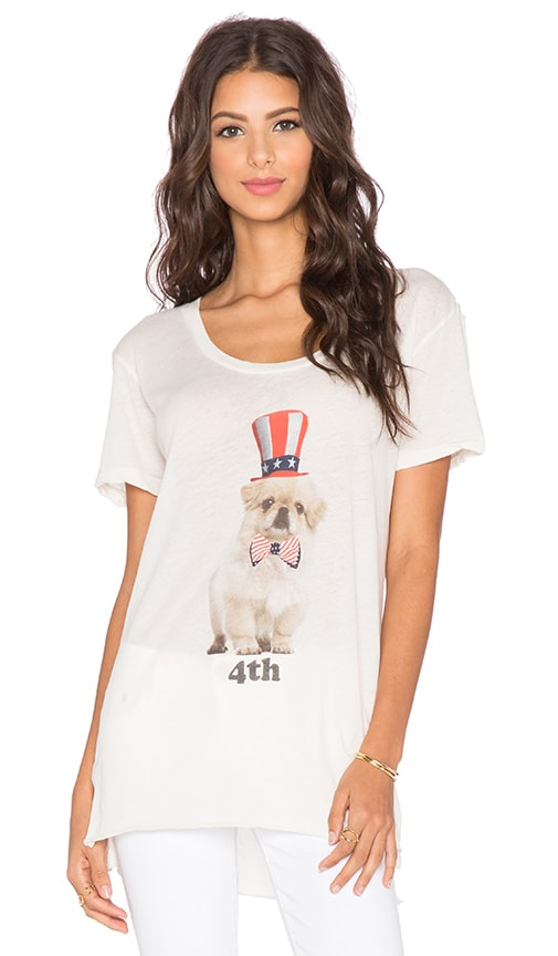 Wildfox Couture Party Pup Tee in Vintage Lace