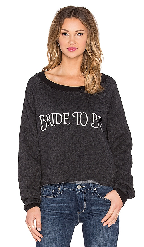 Wildfox Couture Bride To Be Crop Top in Clean Black