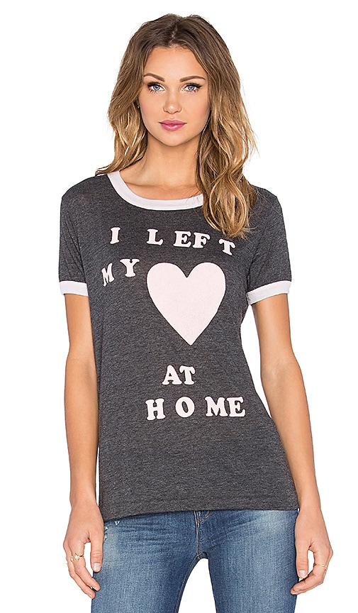 Wildfox Couture Left My Love Tee in Clean Black