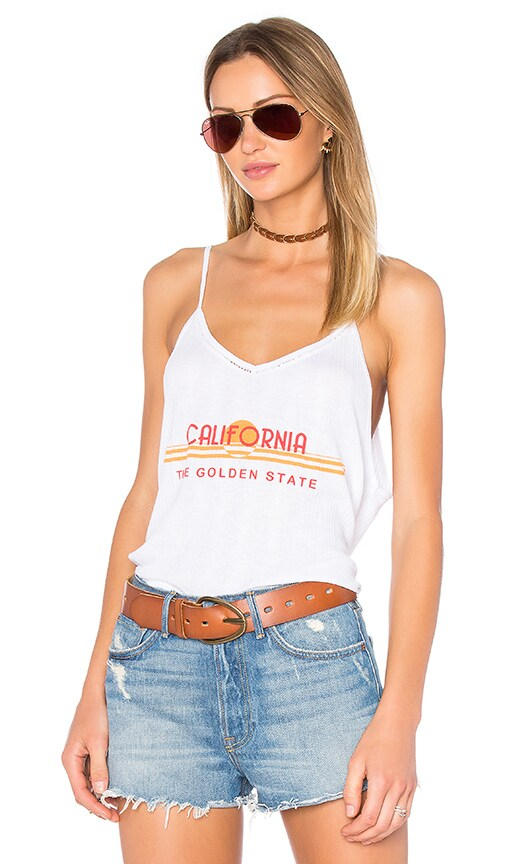 Wildfox Couture Golden State Tank in Clean White