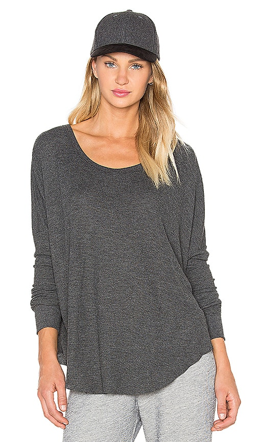 Wildfox Couture Basic Top in Charcoal
