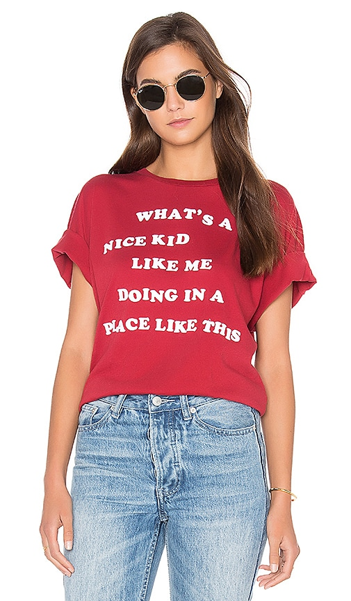 Wildfox Couture Nice Kid Top in Red