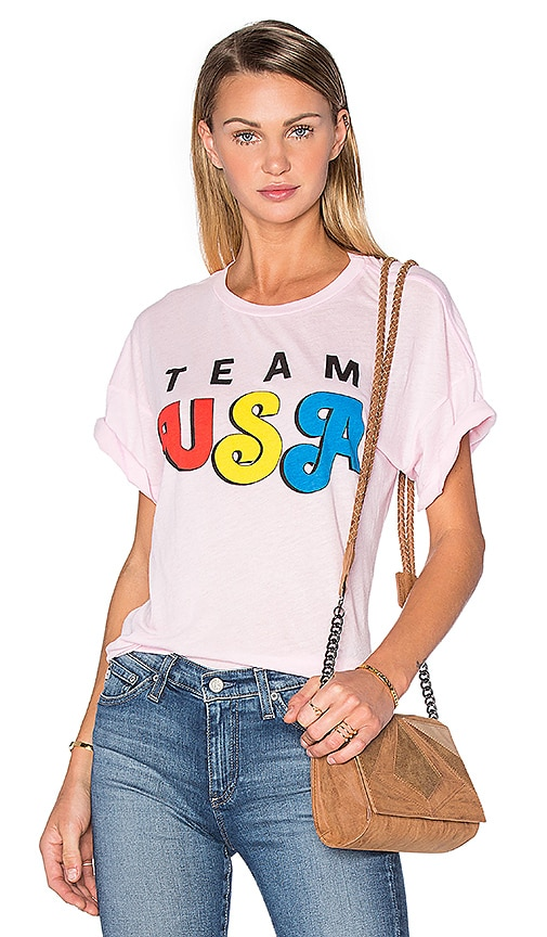 Wildfox Couture Team USA Tee in Pink