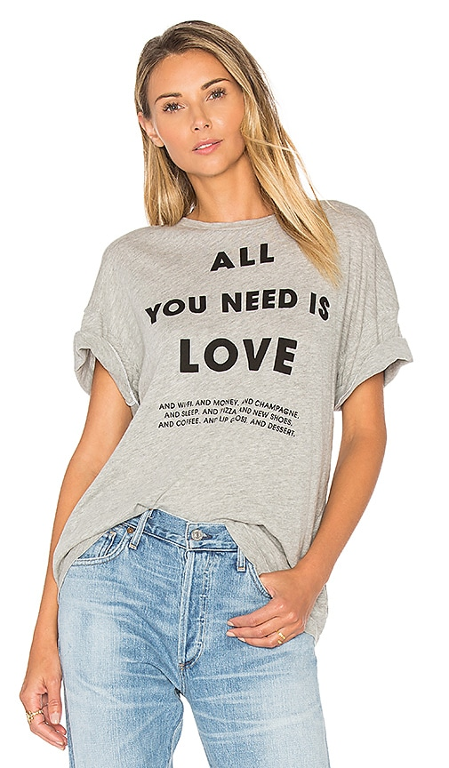 Wildfox Couture List of Demands Tee in Gray
