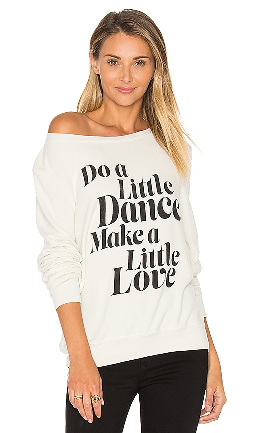Wildfox Couture Get Down Tonight Top in Ivory