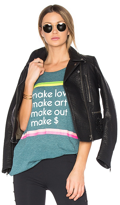 Wildfox Couture Make It Tee in Teal