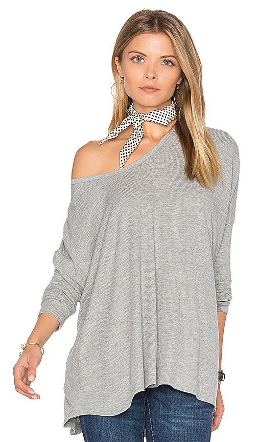 Wildfox Couture Long Sleeve Top in Gray
