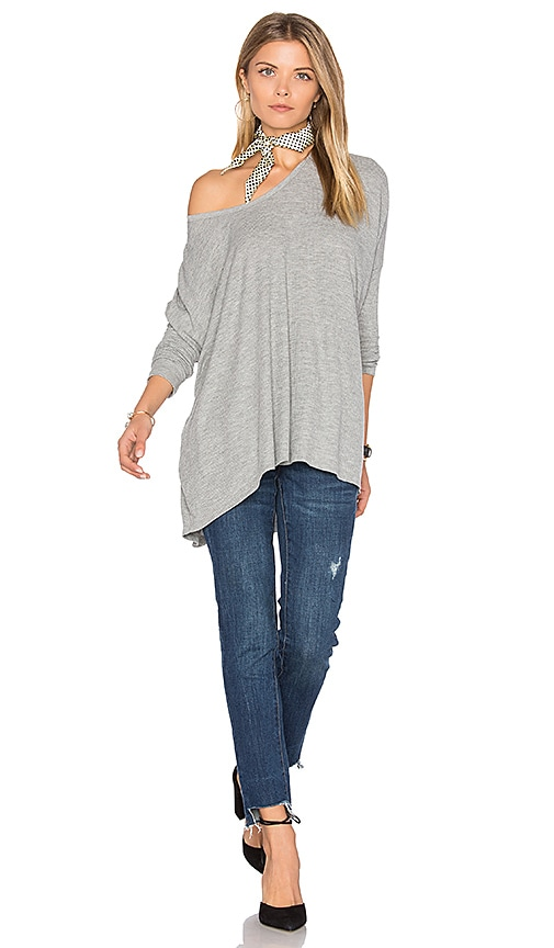 2f5c604c60ca7 Wildfox Couture Long Sleeve Top in Heather well-wreapped ...