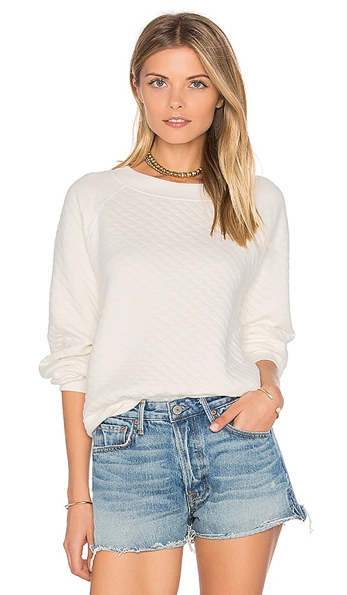 Wildfox Couture Long Sleeve Top in White
