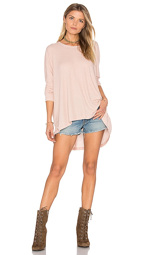 Wildfox Couture Long Sleeve Top in Pink