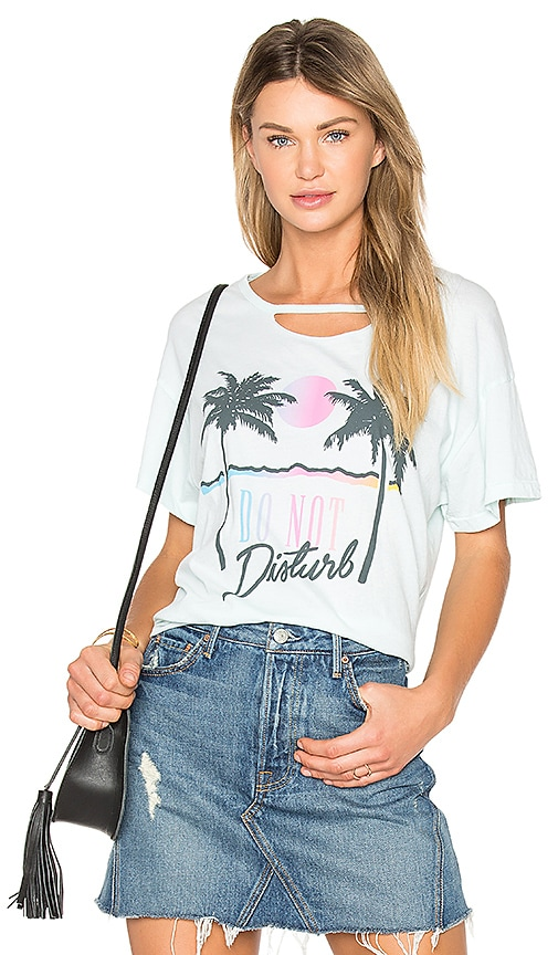 Wildfox Couture Do Not Disturb Tee in Mint