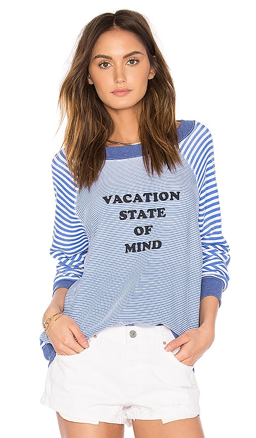 Wildfox Couture Vacation State of Mind Top in Blue