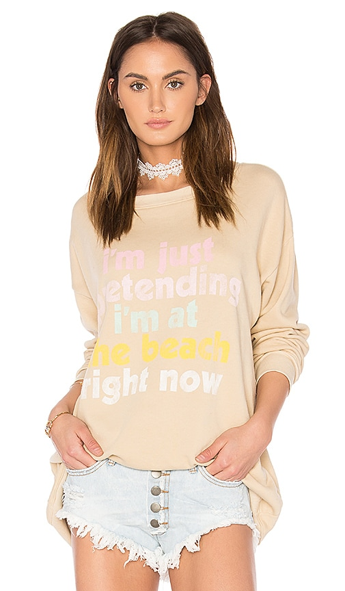 Wildfox Couture Play Pretend Top in Beige