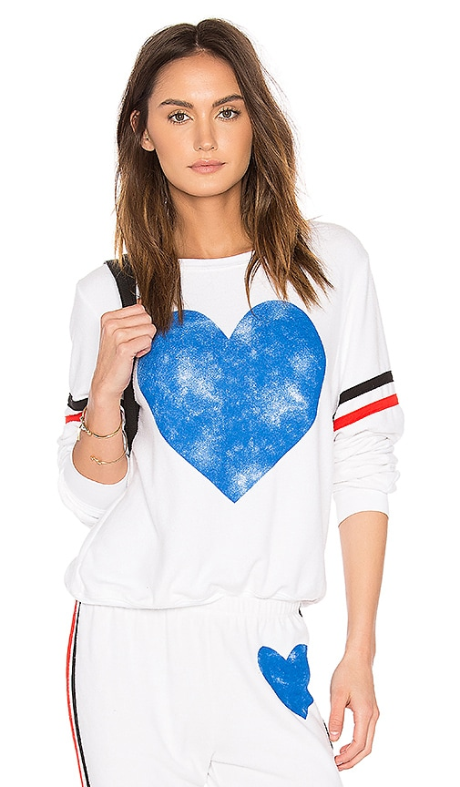 Wildfox Couture Classic Heart Top in White
