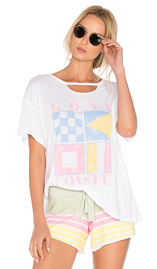 Wildfox Couture Gone Coastal Tee in White