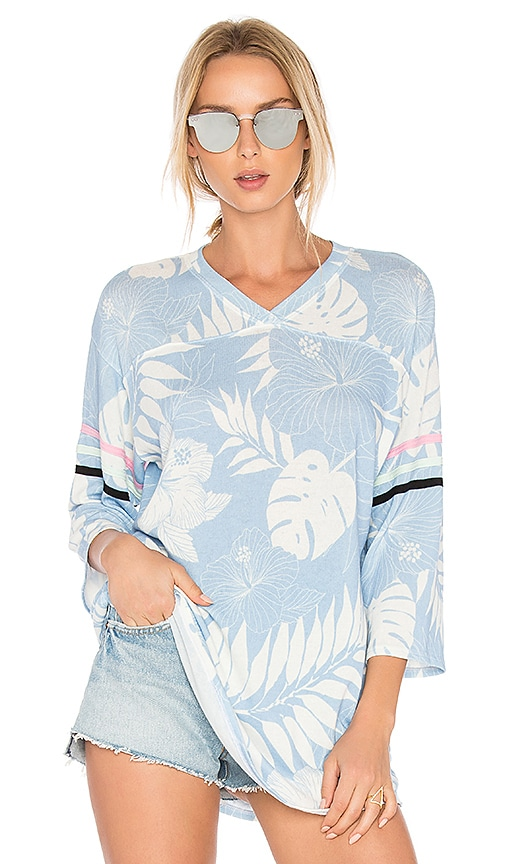 Wildfox Couture Vacay All Day Top in Blue