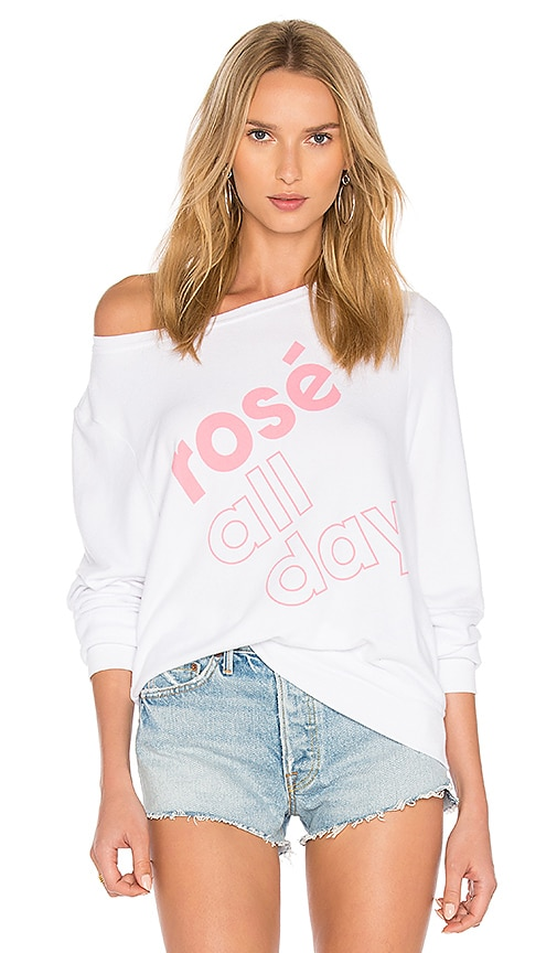 Wildfox Couture More Rose Top in White