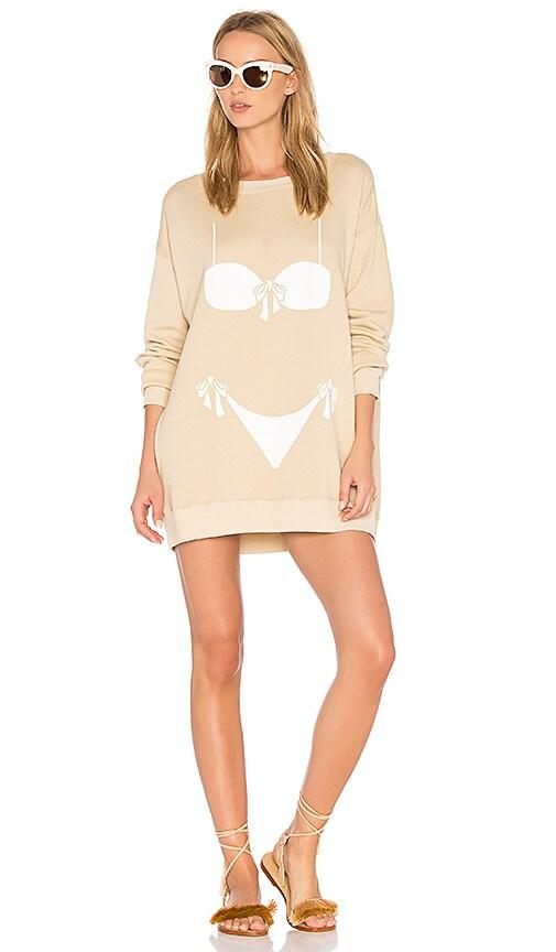 Wildfox Couture Bikini Bod Top in Tan