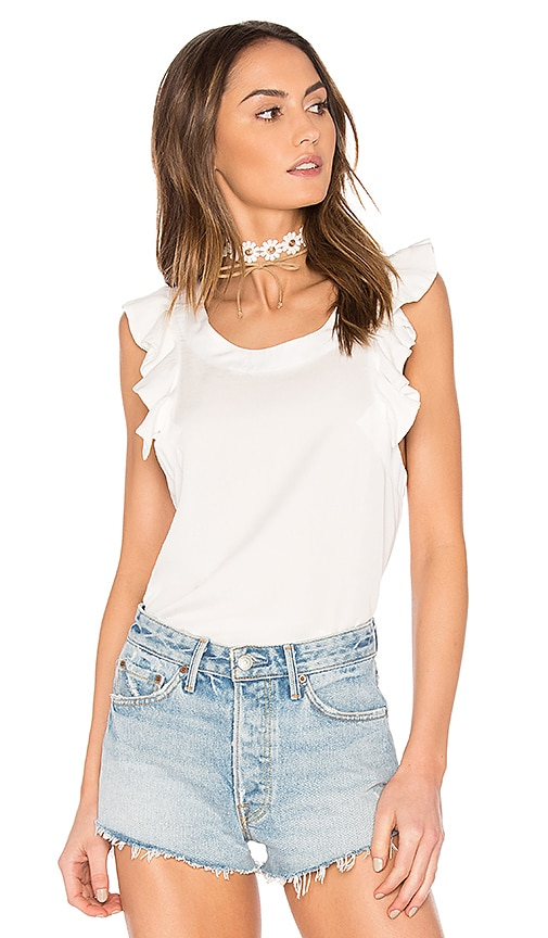 Wildfox Couture Short Sleeve Top in White