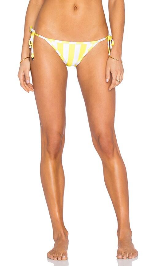 Wildfox Couture Emoji Reversible Side Tie Bikini Bottom in Yellow