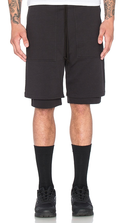 Wil Fry Double Layer Short in Black