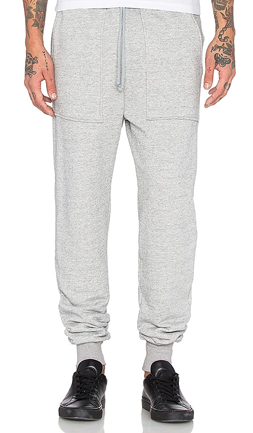 Wil Fry French Terry Sweatpant in Deep Heather